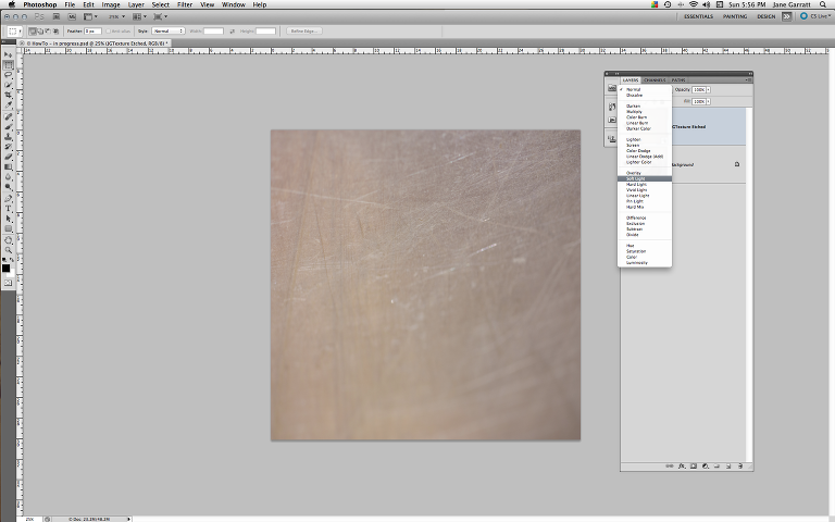 ApplyTexture - 4. Adjust the blend mode of the texture layer