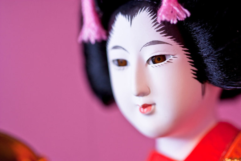 Geisha Doll - Before processing with fine art digital texture overlays in Photoshop