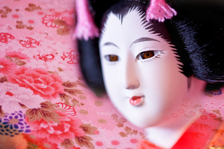 Geisha Doll - After processing with fine art digital texture overlays in Photoshop