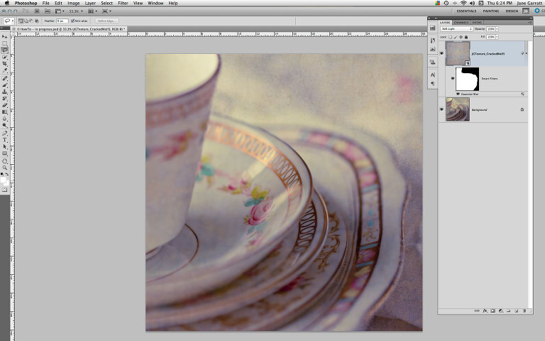 Remove areas of texture selectively in Photoshop » Jane