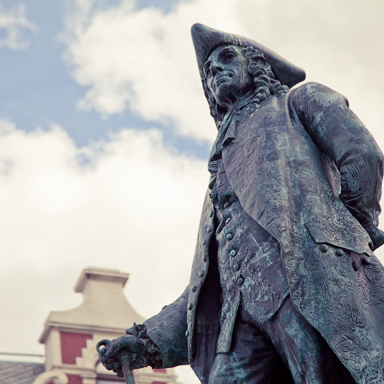 Ludwig Holberg Statue Bergen