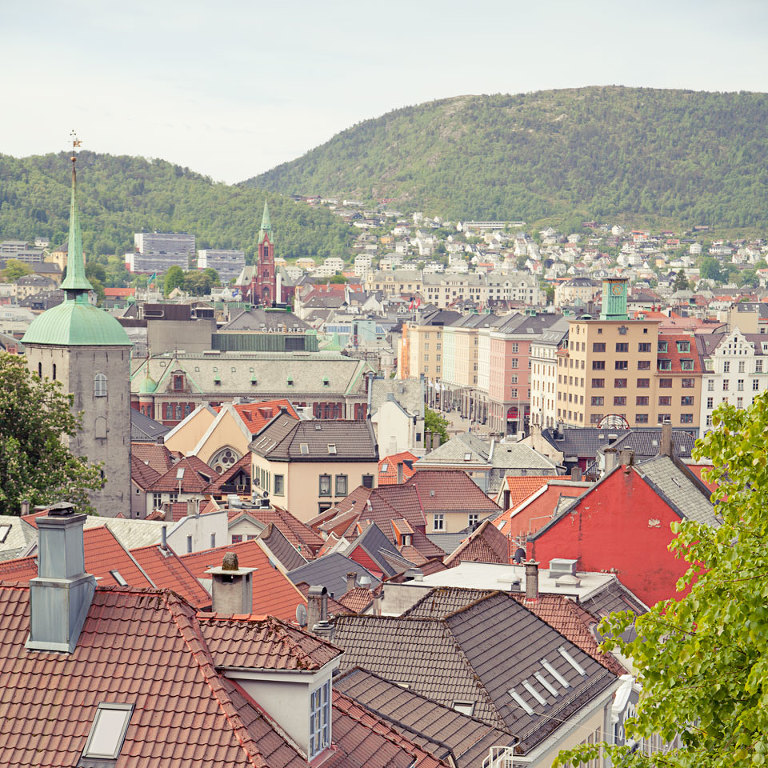 View over Bergen from the Floien