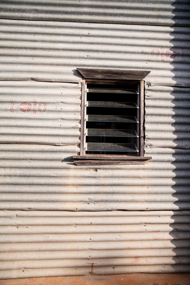 Corrugated Wall With Louvre Window