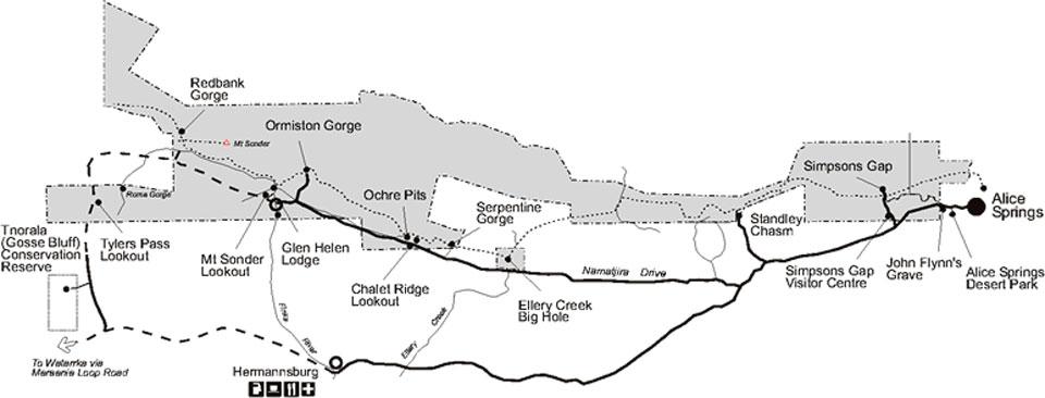 West McDonnell National Park Map
