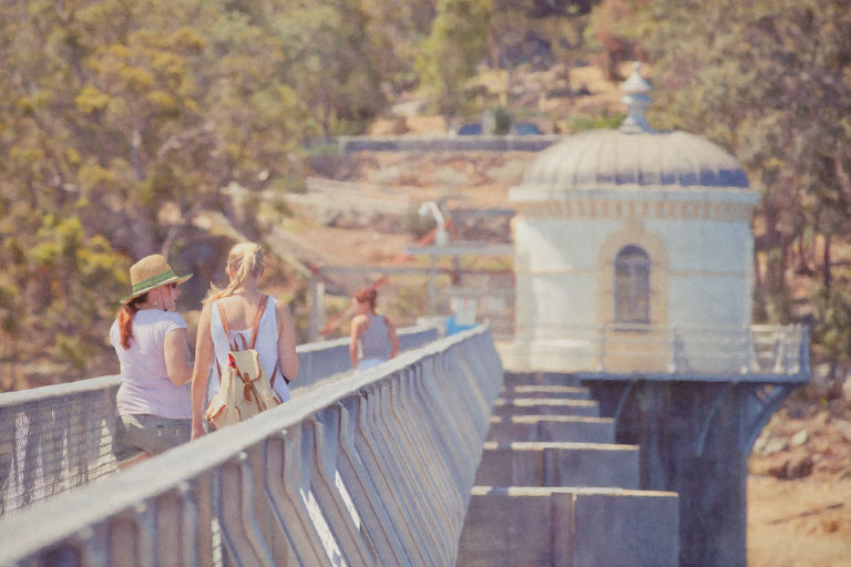 Walkers on Mundaring Weir