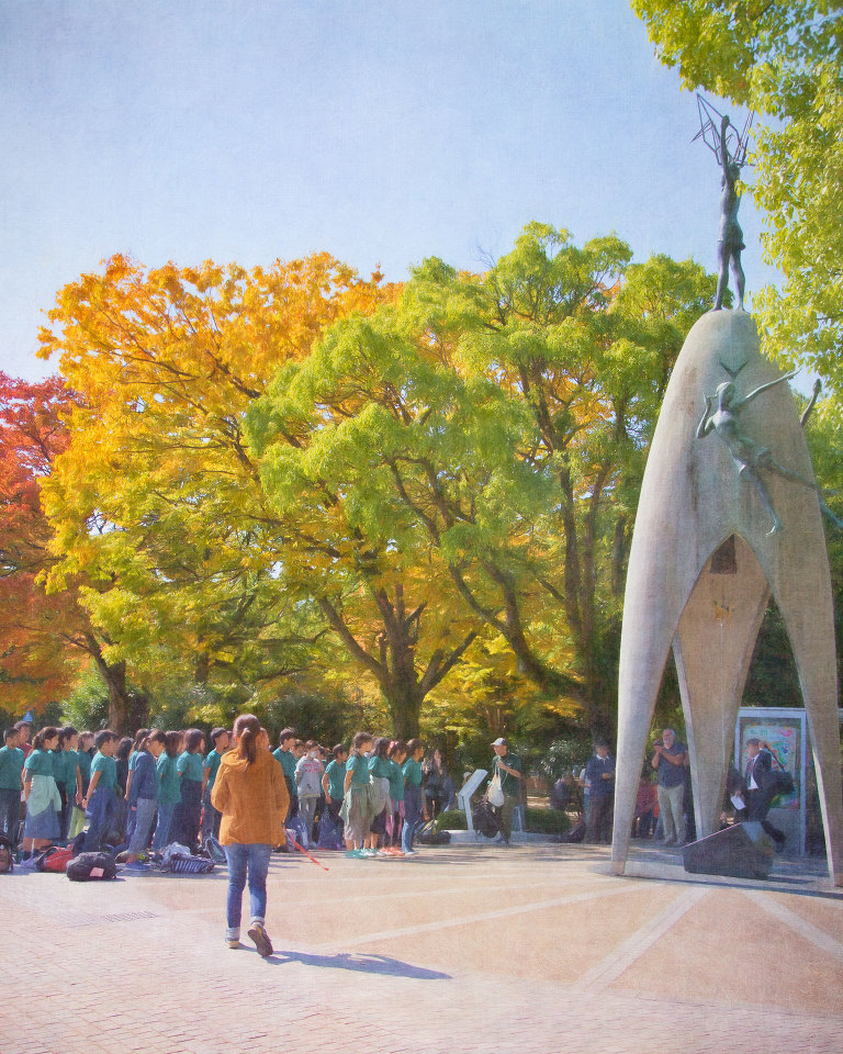 School children at the Children's Peace Monument