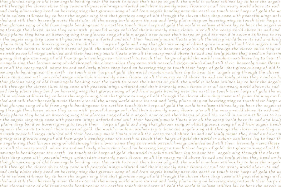 Glorious Song Of Old - Thumbnail of text as texture on transparent ground