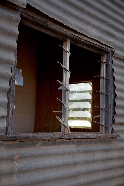 Corrugated Wall & Broken Windows