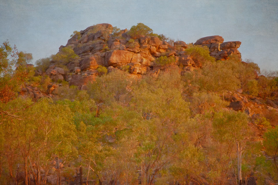 Sunset on Rock Outcrop